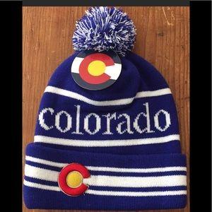 Colorado snow hat beanie stocking hat NWT
